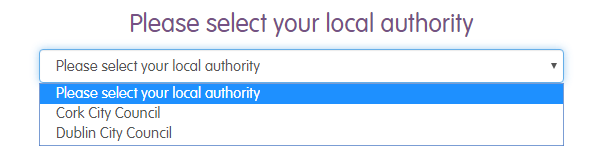 Select your local authority